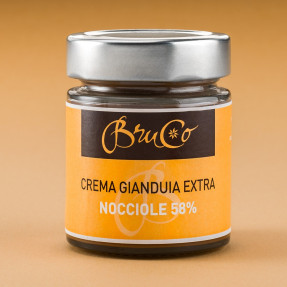 Gianduia 58% and hazelnuts spreadable cream