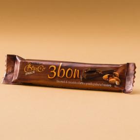 Snack 3 Bon cioccolato al latte e granella di mandorle