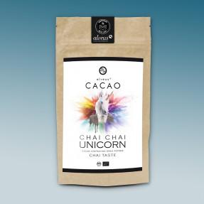 Cacao e matcha organic powder spicy taste, Chai Chai Unicorn