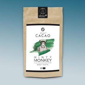 Cacao e matcha organic powder, mint taste, Minty Monkey