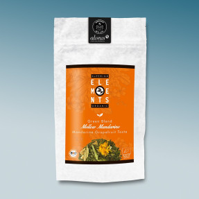 Green organic Chinese tea grapefruit-mandarine taste,...