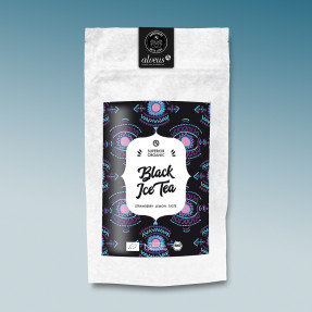 Tè freddo nero bio, gusto fragola limone, Black Ice Tea