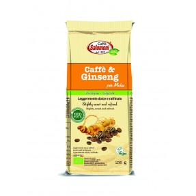 Organic roasted coffee with green coffee
