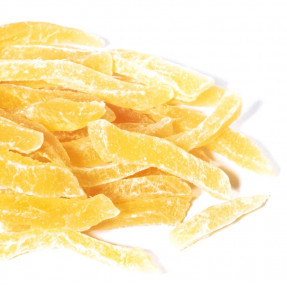 Candied dried ginger root