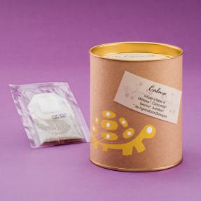 Tisana calma, infuso biologico italiano in bustina con camomilla, melissa, iperico e achillea