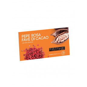 Pink pepper and cocoa beans dark chocolate bar