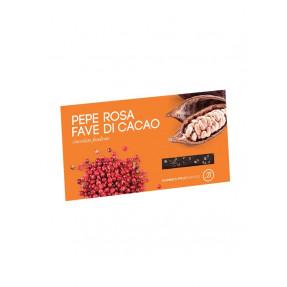Tavoletta fondente pepe rosa e fave di cacao