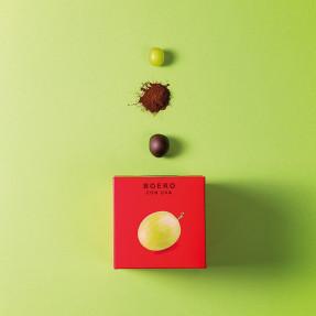 Cubo boeri fondenti con uva