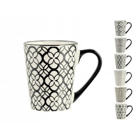Black and White stoneware mug Vhera