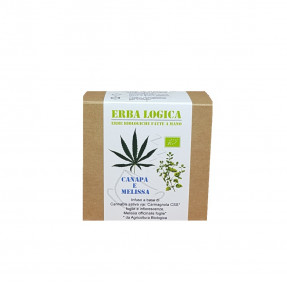 Hemp and lemon balm organic infusion, 15 tea bags