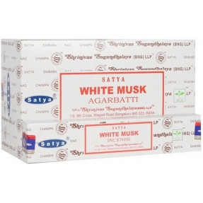 White musk Satya incense, 15gr