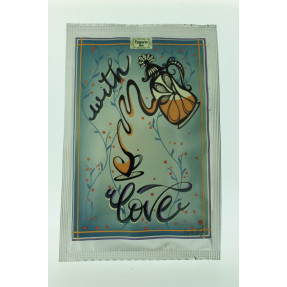 "Tea artistical post card ""With Love"""