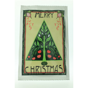 "Tea artistical post card ""Merry Christmas"""
