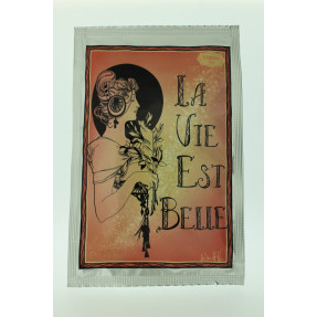 "Tea artistical post card ""La vie est belle"""