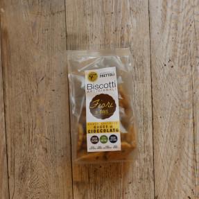 Biscotti fiori di mais con gocce di cioccolato, 250gr