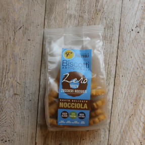 Corn gluten free vegan biscuits, with hazelnut pieces