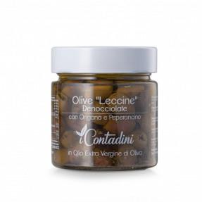 Olive Leccine denocciolate e condite, 230gr