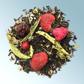 Black fruity organic tea, red fruit taste, Blackberry...