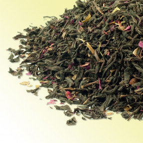 Chinese black tea with Rose petals, Rose Congou