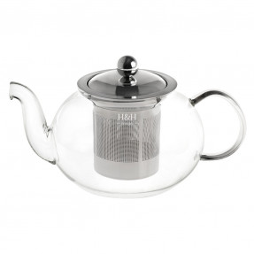 Pyrex tea pot with stainless filter, 1000ml