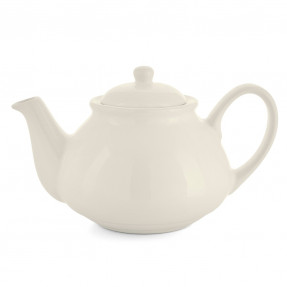 Ivory ceramic tea pot, 1l