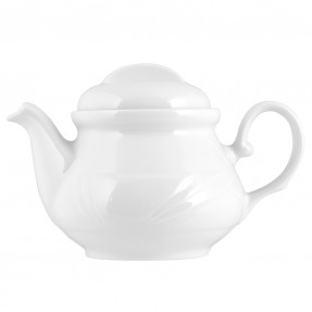 White porcelain tea pot 400ml, Arcadia