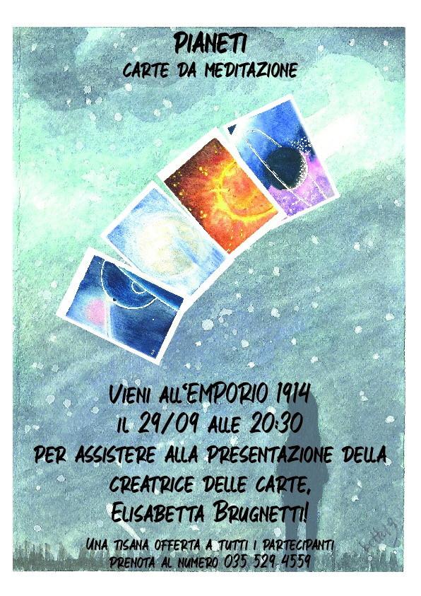 """Martedi 29/09 h 20:30 """"Pianeti: carte da meditazione""""di Elisabetta Brugnetti"""